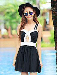 Women' s Behind The Crossover Design Split Skirt Style Swimsuit