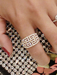 European Style Retro Fashion Trend Exaggerated Rhinestone Ring