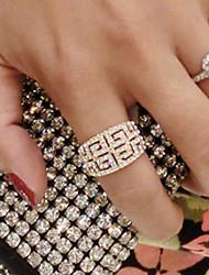 Anéis Casamento / Pesta / Diário / Casual Jóias Liga Feminino Anéis Grossos 1pç,8 Dourado / Prateado