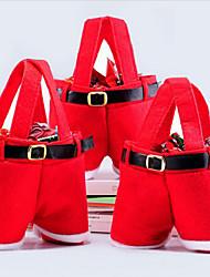 manera de la venta caliente de la Navidad de santa pantalones duende bolsas espíritu de caramelo decoración de Navidad saco lindo regalo