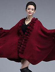 Wedding Faux Fur / Imitation Cashmere Capes Long Sleeve Wedding  Wraps / Fur Coats / Hoods & Ponchos