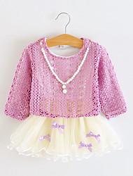 Robe Fille de Hiver / Printemps / Automne Coton / Maille Violet