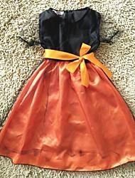 Vestido Chica de - Todas las Temporadas - Malla / Satén - Negro