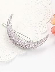 Rich Long Diamond Moon Hair Clip