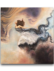IARTS®Flying Woman Fairy Tale Story Beautiful Godness Flying Painting Living Room Wall Art