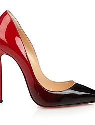 Mujer-Tacón Stiletto-TaconesOficina y Trabajo / Vestido / Fiesta y Noche-PU-Rojo / Beige