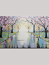 Hand-Painted Abstract Landscape Modern Flower Tree Oil Painting On Canvas One Panel