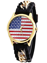 Fashion Womens Watches Flower Print Silica Gel Quartz Watches Montre Femme Cool Watches Unique Watches