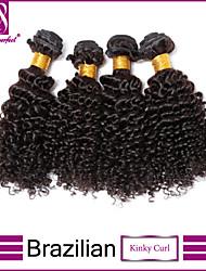 4Pcs/Lot Brazilian Virgin Hair Kinky Curl Unprocessed Brazilian Virgin Hair Brazilian Hair Bundles Natural Black Hair