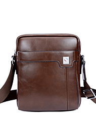 Men Bags All Seasons PU Shoulder Bag with for Casual Formal Outdoor Office & Career Brown