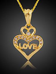 TAKA Women's 18K Gold Plated Fashion Jewelry Good Quality Crystal Key Gold Pendant