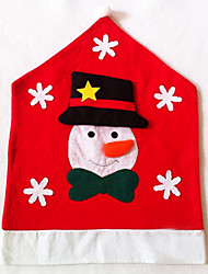 Half Stereo Snowman Chair Cover for Christmas Dinner Table Party Decoration