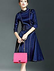 Vestido De las mujeres Vintage - Denim