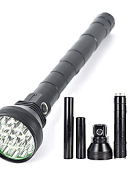 Lights LED Flashlights/Torch LED 22000 Lumens 5 Mode Cree XM-L2 18650Waterproof / Rechargeable / Impact Resistant / Strike Bezel /
