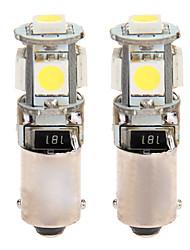 2 BAX9S H6W 5 SMD LED ERROR FREE Side Light Bulbs Lamp