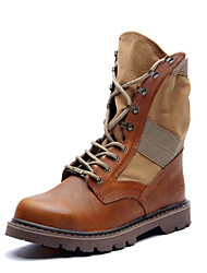 Men's Shoes Outdoor / Athletic / Casual Leather Boots Black / Brown / Beige
