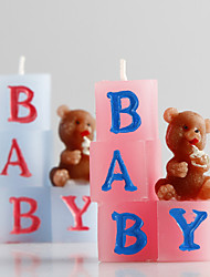 Baby Bear Smokeless Candles European Style Smokeless Tasteless Candles Holiday / Music Modern/ Romantic Wedding