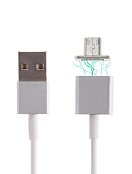Cwxuan™  Micro USB Metal Magnetic Adhesion Charging Cable  for Samsung Huawei and Other Android Smart Phones (120cm)