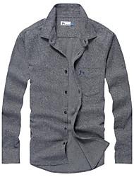 Men's Casual Cotton Big Check Shirts