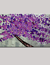 Oil Painting Modern Knife Flower Hand Painted Canvas with Stretched Framed Ready to Hang