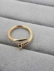 Fashion Women Polished Screw Adjustable Ring
