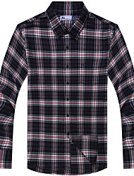 Men's Casual Cotton Big Check Shirts