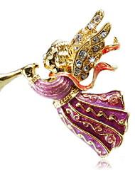 Europe Angel Diamond Brooch Clothing
