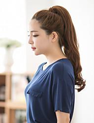 venta caliente de las extensiones del pelo de cola de caballo marrón precio más barato y hermoso estilo