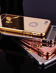 iphone 7 плюс новый металлизированный зеркало заднего с металлическим каркасом корпуса телефона для iphone 5 / 5s