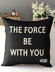 "43cm*43cm 17""*17"" Star Wars Cotton / Linen Cotton&linen Pillow Cover / Throw Pillow With No Insert"