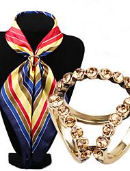 intarsio epoca diamante tre anelli sciarpa fibbia