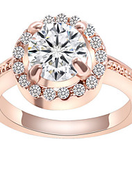 May Polly  The delicate beautiful diamond ring of light round zircon in Europe