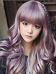 belle cosplay belle vague sythetic rouge des filles perruques extensions de cheveux Bang du style quotidienne