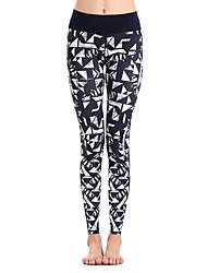 Clothin Women Yoga Compression Tight Pants Running Base Layer Workout Leggings(Dark Blue,Purple)