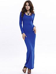 Women's Fashion Beach Casual Party Long Sleeve Slimimg Maxi Dress