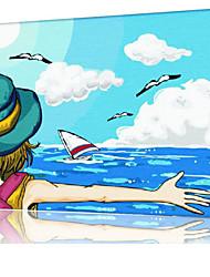 DIY digitales Ölgemälde Frame Familie Spaß Malerei alle von mir umarmen x5040