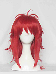 Cosplay Wigs Cosplay Cosplay Red Medium Anime Cosplay Wigs 60 CM Heat Resistant Fiber Female