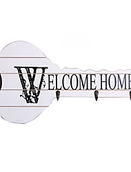 "Household Essentials Seamless Hook ""WELCOME HOME"" Decorated Key Shape"