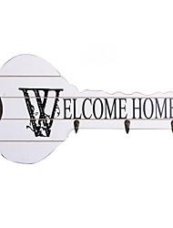 """предметы домашнего обихода бесшовные крючок """"Добро пожаловать домой"""" оформлены ключевую форму"""