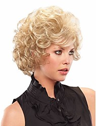 Top Quality  European Women Lady Blonde  Color  Syntheic Wave Wigs From Stock