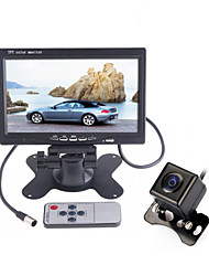 """DearRoad 7"""" LCD Color Display Screen Car Rear View Camera with DVD VCR Monitor +170° Vision Reverse Camera"""