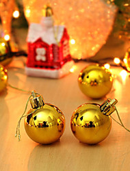 4cm  (A Packet Of 4) Christmas Colorful Ball Dumb Light Ball Christmas Tree Ornaments