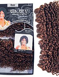 "evet pelo rizado rizado brasileño teje del pelo brasileño 8 ""4pcs mucho brasileña rizada rizada virginal conjunto de pelo 200g"