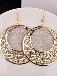 Top Quality European Style Hollow Circle Drop Earrings for Wedding Party