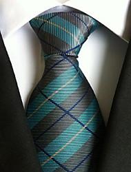 Men Wedding Cocktail Necktie At Work Blue Gray White Tie