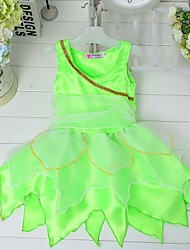 Girl's Green Dress , Dresswear Polyester Winter / Fall
