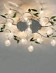 Green Crystal Ceiling Lamp Round Air living Room Lights Bedroom lamp lamp Iron Restaurant