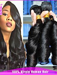 3 feixes não transformados tia virgem brasileiro do cabelo Funmi 100% cabelo humano tecelagem tia Funmi cachos saltitantes # 1b