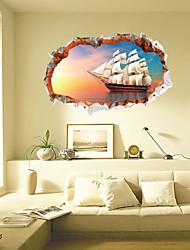 Vida Imóvel / Paisagem / Transporte Wall Stickers Autocolantes 3D para Parede,pvc 60*90cm