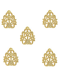 10pcs Queen's Lace 3D Metal Charm Alloy 8mm x11mm Nail Art Decoration